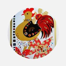 Red Rooster Ornament (Round)