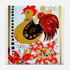 Red Rooster Tile Coaster