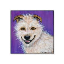 "Terrier Mix Charlie Square Sticker 3"" x 3"""