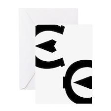EE logo black Greeting Card