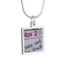 Takeoutthetrash10 Silver Square Necklace