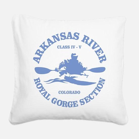Arkansas River (Royal Gorge) Square Canvas Pillow