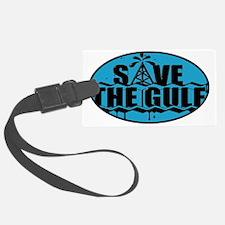 SAVE THE GULF blublack oval Luggage Tag