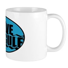 SAVE THE GULF blublack oval Mug