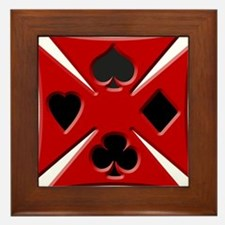 Ace Biker Cross Dark Framed Tile