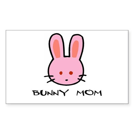 Bunny Mom Rectangle Sticker