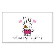 Bunny Mom Rectangle Decal