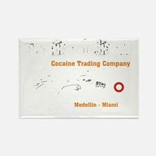 Cocaine Trading Company Rectangle Magnet