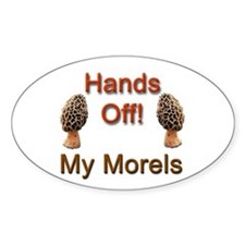 Hands Off! Oval Decal