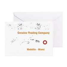 Cocaine Trading Company Greeting Card