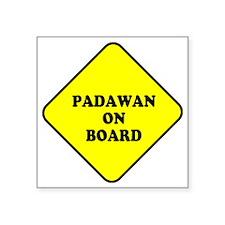 """padawan_onboard Square Sticker 3"""" x 3"""""""