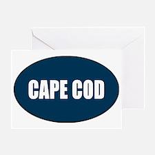 cape-cod-blue-sticker Greeting Card