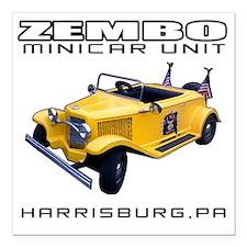 """minicarUnit_light_big Square Car Magnet 3"""" x 3"""""""