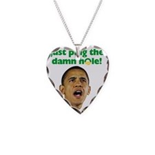 obama_oil Necklace Heart Charm