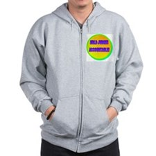 HOLD JUDGES ACCOUNTABLE!(white) Zip Hoodie