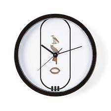 """Amir in Hieroglyphics """"Color"""" Wall Clock"""