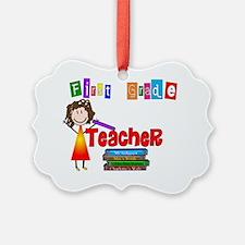First Grade Teacher Ornament