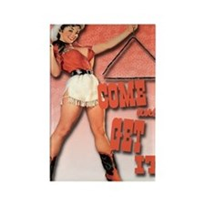 come and get it clock1 Rectangle Magnet
