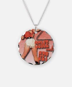 come and get it clock1 Necklace