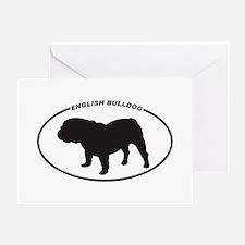 English-Bulldog Greeting Card