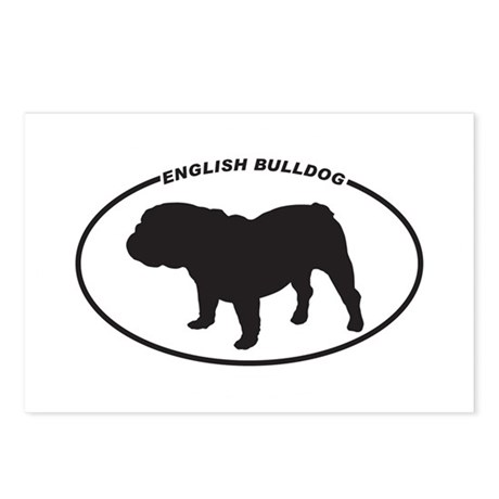 English-Bulldog Postcards (Package of 8)