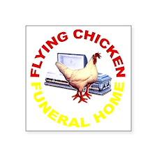 "flying_chicken_dark Square Sticker 3"" x 3"""