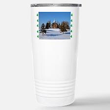 01-Exterior church in snow Travel Mug