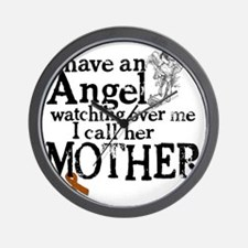 12-mother angel Wall Clock