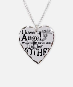12-mother angel Necklace