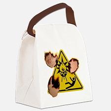 eyebrowsoptionalburnt Canvas Lunch Bag