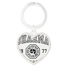 Dharma 77 S1 Heart Keychain