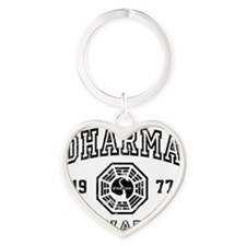 Dharma 77 S6 Heart Keychain