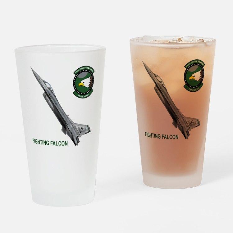 F-16_falcon_fighting Drinking Glass