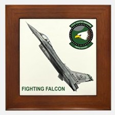 F-16_falcon_fighting Framed Tile