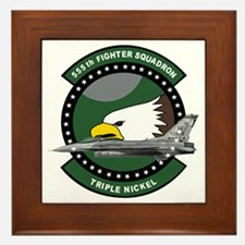 555th_fs_f16_f-16_falcon Framed Tile