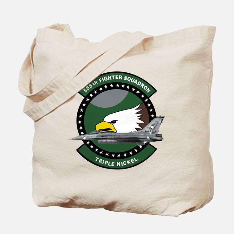 555th_fs_f16_f-16_falcon Tote Bag