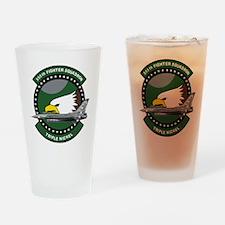 555th_fs_f16_f-16_falcon Drinking Glass