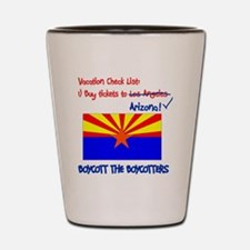 Arizona-Boycott the Boycotter 2c Shot Glass