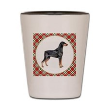 Doberman Pinscher Christmas Shot Glass
