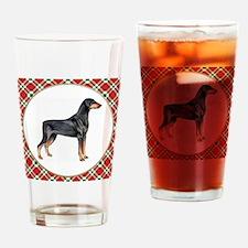 Doberman Pinscher Christmas Drinking Glass