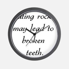 eatingrocks01 Wall Clock