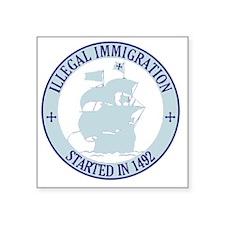 """immigration1 Square Sticker 3"""" x 3"""""""