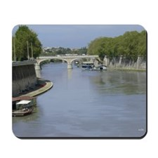 Tiber River In Rome Italy 14x10 Large Fr Mousepad