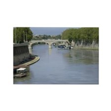 Tiber River In Rome Italy 14x10 L Rectangle Magnet