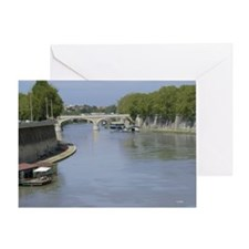 Tiber River In Rome Italy 14x10 Larg Greeting Card