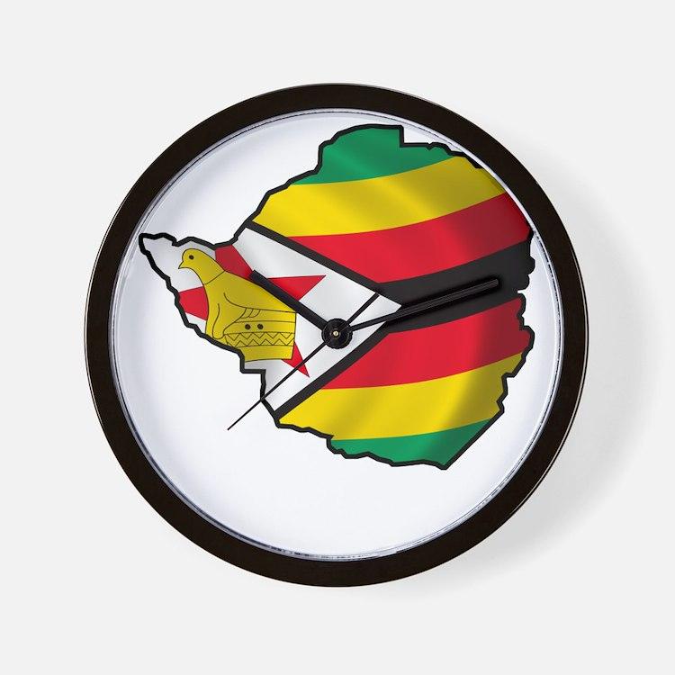 Zimbabwe2Bk Wall Clock