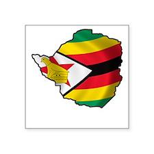 """Zimbabwe2Bk Square Sticker 3"""" x 3"""""""