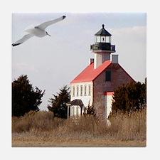 East Point  Light  House 14x10 Large  Tile Coaster