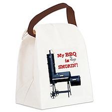 2-MyBBQisSmokin Canvas Lunch Bag