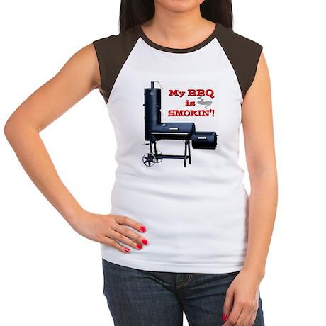 2-MyBBQisSmokin Women's Cap Sleeve T-Shirt